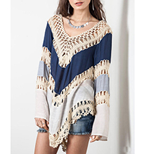 Charming Chevron Sweater – Low Scooped Neckline