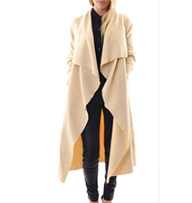 Womens Midi Duster – Vanilla / Shawl Collar
