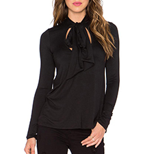 Womens Blouse – Black / Cut Outs