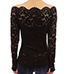 Womens Off Shoulder Blouse – Lace / Black