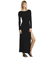 Maxi Dress – Black Color / Slit In Leg