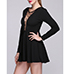 Mini Dress – Lace Inserts / Solid Black / Long Sleeves