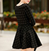 Fit and Flare Sweater Dress – Windowpane Check / Black and Gray