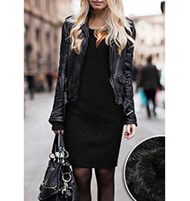 Warm Fuzzy Sweater Dress – All Black