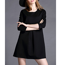 Sweet Swingy Shift Dress – Black