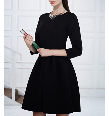 Black Fit and Flare Little Black Dress – Traditional Fifties Style