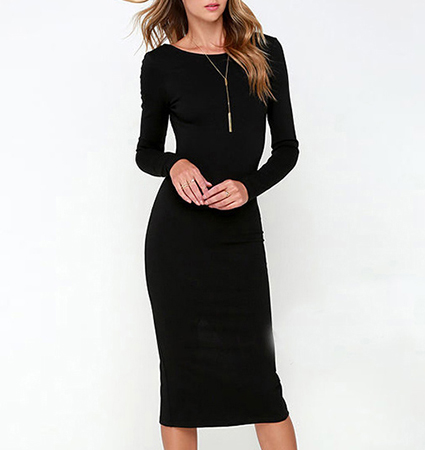 Black Knee Length Dress – The Best is Behind You
