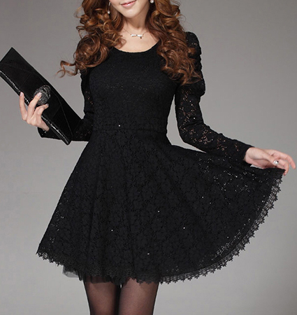 Flare Lace Dress The Perfect Party