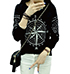 Womens Long Sleeved Nautical Top – Black White / Long Sleeves
