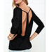 Womens Casual Top – Dramatic Back Detail / Black