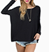 Womens Sweater – Long Caftan Sleeves / Wide Fit / Round Neckline / Drop Shoulders