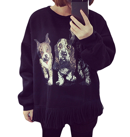 Womens Sweatshirt – Fashion Has Gone to the Dogs