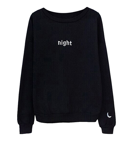 Womens Sweatshirt – Black / Day or Night