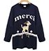Womens Casual Sweatshirt – Black / Merci Logo