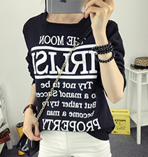 Womens Screen Print Property Tee Shirt