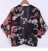 Womens Lightweight Kimono Top – Floral Print / Black, Pink, White and Gray