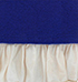 Womens Fitted Blouse – Royal Blue / White Ruffle