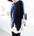 Womens Blouse – Asymmetrical Hemline / Navy