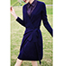 Knee Length Dress – Navy Blue / Purple