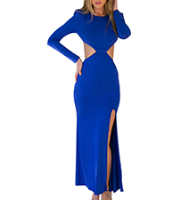 Maxi Bodycon Dress – Royal Blue / Cut Outs
