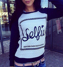 Womens Royal Blue Selfie Shirt