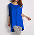 Womens Blue Colored T-Shirt – Long Sleeves / Oversized Fit