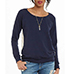 Womens Surprise Lacy Back Sweatshirt