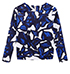 Womens Casual Sweatshirt – Blue and White Print / Long Sleeves