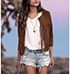 Womens Short Jacket – Fringe / Brown