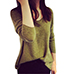 Womens Sweater – Long Sleeves / Course Knit / Drop Shoulders / V-Neck