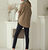 Womens Sweater – Loose Fit / Long Sleeves / Dropped Sleeves / Shirt Tail Style