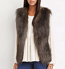 Womens Vest – Feathers / Sleeveless / Brown