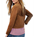 Womens Suede Jacket – Camel Colored / Wide Lapels