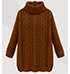 Womens Turtleneck Sweater – Camel / Cable Knit