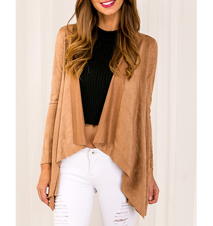 Womens Wrap – Inverted Hemline / Camel Colored