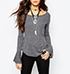 Womens Lightweight Blouse – Dove Gray / Ruffled Sleeves