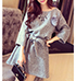Mini Dress – Three Quarter Length Sleeves / Dove Gray