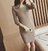 Mini Sheath Dress – Long Sleeves / Sand Colored