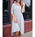 Gray Shift Dress – A Line Cut / Simply Stylish