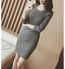 Gray Sheath Dress – Office Classic