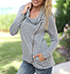 Womens Jacket – Sweatshirt Fabric / Medium Gray