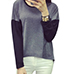 Womens Athletic-Style Top – Gray and Black / Long Sleeves
