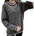 Womens Sweater – Textured Three Dimension Fabric / Wide Crewneck Collar