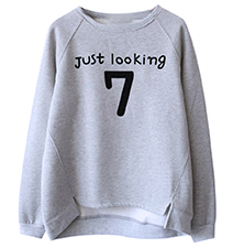Womens Whimsical Sweatshirt – Gray / Number 7 Logo