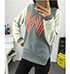 Womens Sweatshirt – Gray Salmon and Cream / Graphic Image