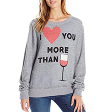 Womens Sweatshirt – Light Gray / Love-themed Logo