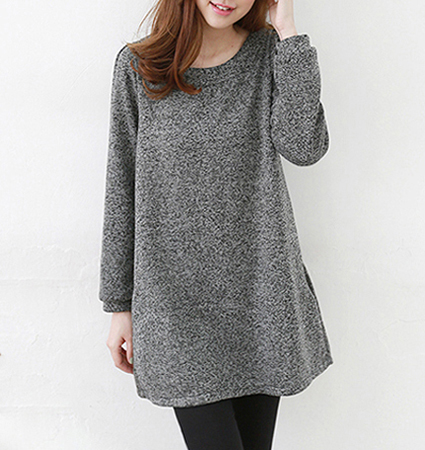 Womens Tunic Top – Deep Gray / Bow Detail