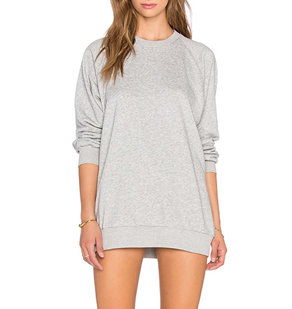 Womens Long Tunic – Light Gray / Long Sleeves