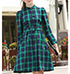 Mini Dress – Plaid / Blue and Green