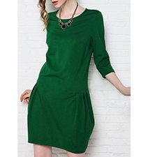 Luxurious Blossom Dress – Green